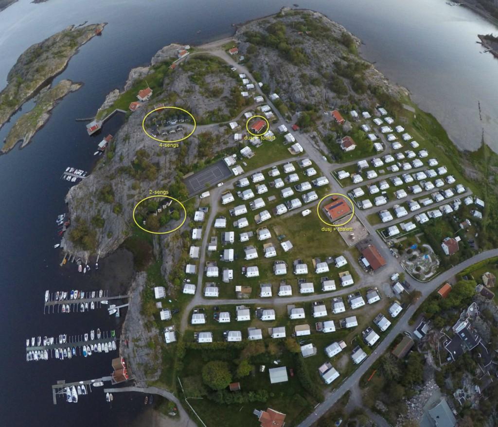 Løkholmen Camping fra luften